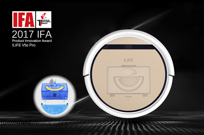 ILIFE Robot Vaccum Cleaner Shines with 2017 IFA Product Technical Innovation Award,Refresh your life